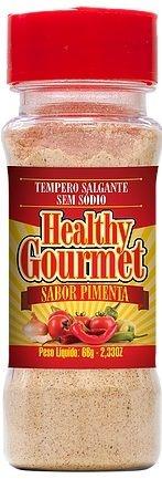 Tempero Salgante sem Sódio 66g Pimenta - Healthy Gourmet
