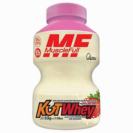 Kutwhey 900g Muscle Full Leite Fermentado com Morango