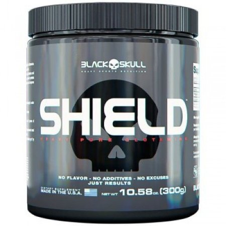 Shield Glutamina 300g - Black Skull