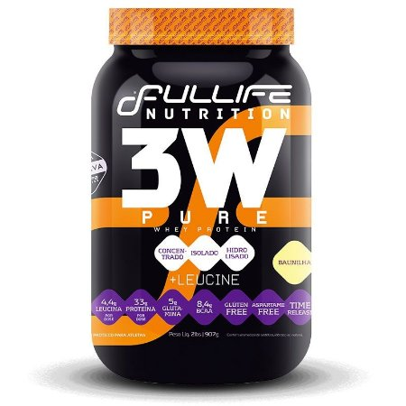 3W Pure Whey Protein 907g - Fullife Nutrition