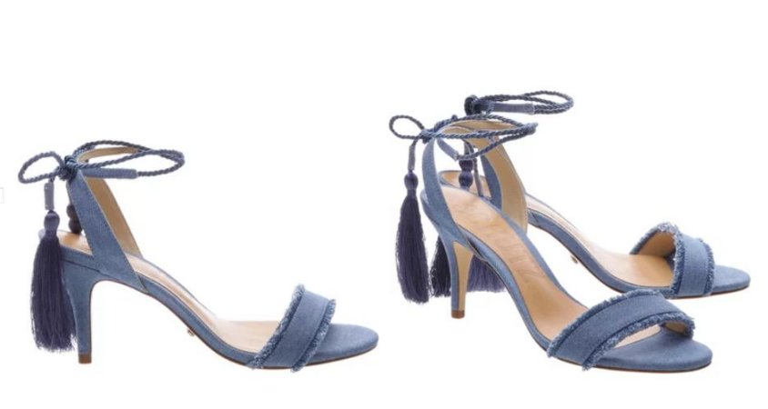 Sandália Lace Light Blue Schutz