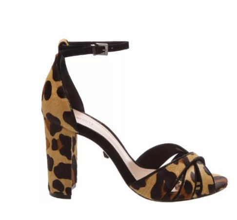 SANDÁLIA BLOCK HEEL ANIMAL PRINT