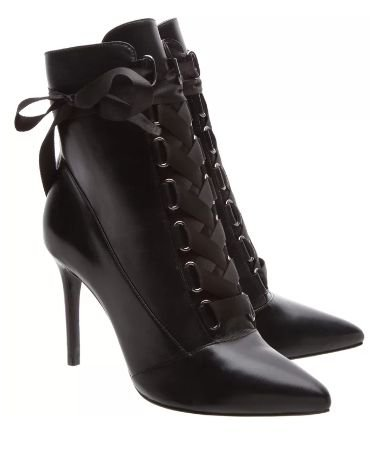ANKLE BOOTIE GAGA LACE UP BLACK