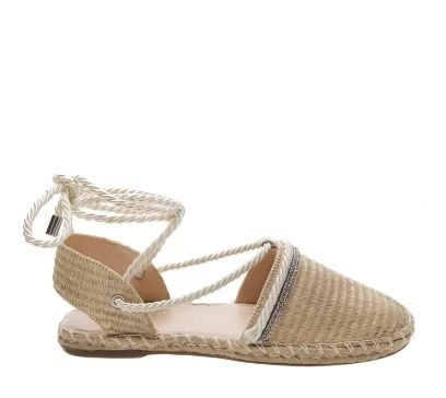 ESPADRILLE LACE UP NATURAL