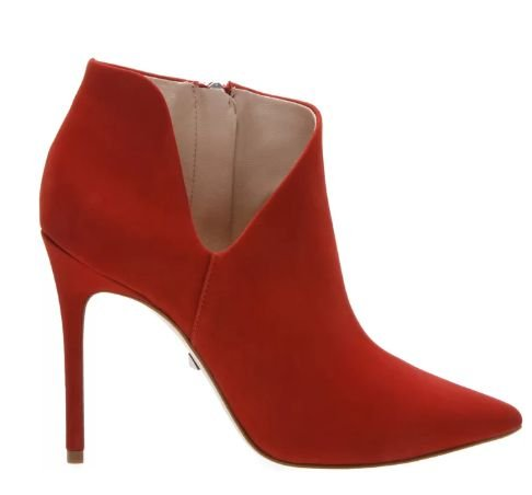 ANKLE BOOT CUT OUT RED