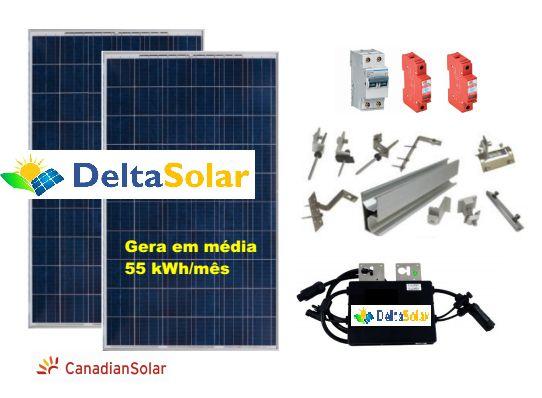 Gerador Fotovoltaico Instalado Delta Solar gera até 90kWh/mês