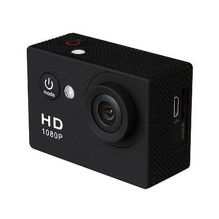 Mini Câmera HD com Display Preta