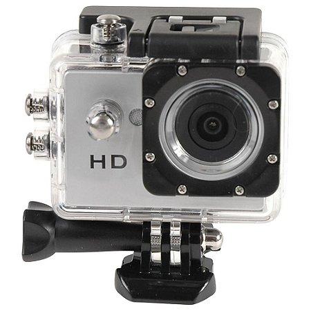 Mini Câmera HD com Display Prata