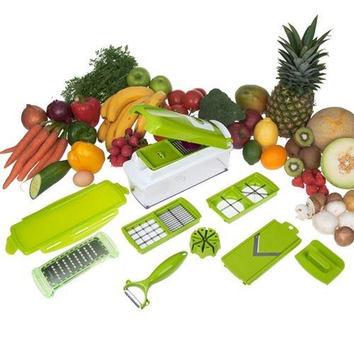 Nicer Dicer Plus - Cortador e Fatiador de Legumes, Frutas e Verduras