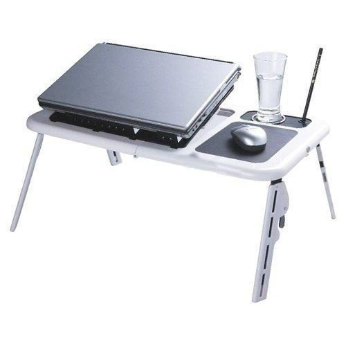 Mesa para Notebook c/ Apoio e Cooler E-table LD09 Branca