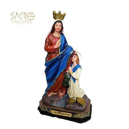 Imagem de Nossa Senhora do Caravaggio resina 20cm importada