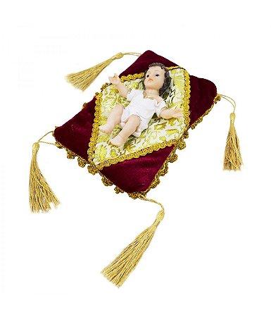Imagem Resina Menino Jesus com Almofada 12,5cm Presépio