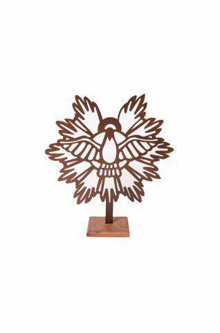 Escultura De Aço Galvanizado Estátua Espírito Santo 30cm