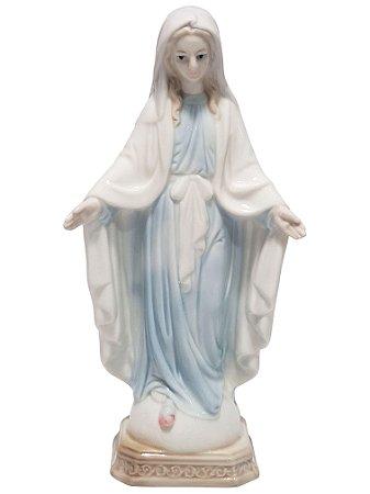 Imagem Nossa Senhora das Graças Porcelana Importada 20cm