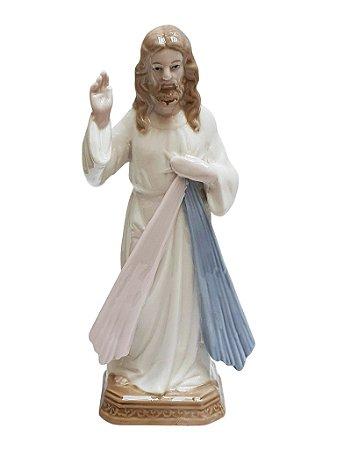 Imagem Jesus Misericordioso Porcelana Importada 20cm