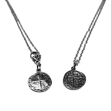 Escapulário Medalha de São Bento Duas Cruzes Inox Corrente
