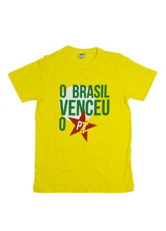 """Camiseta """" O Brasil Venceu o PT! """""""