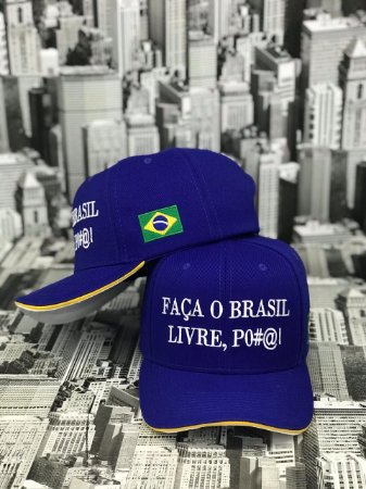 "Boné ""FAÇA O BRASIL LIVRE, PO#@!"""