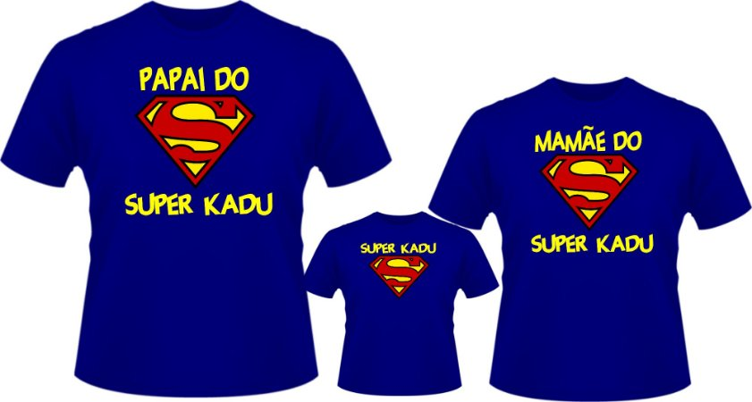 2a69f6b76 Camiseta Personalizada Superman kit Aniversário - Edu Arte Sublimação