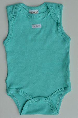 Body Regata em suedine bebê Básico Verde Água