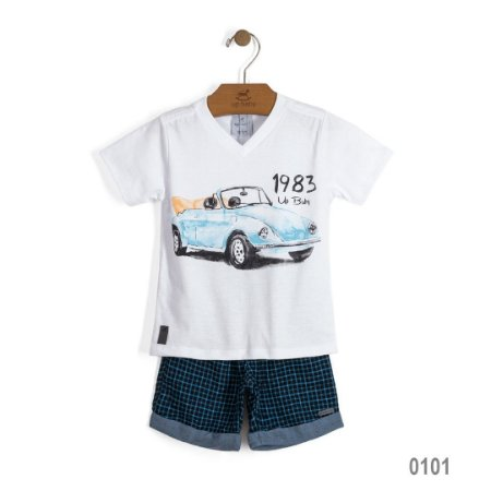 Conjunto de camiseta e short Fusquinha