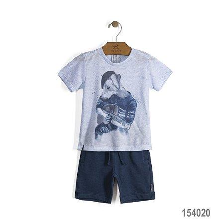 Conjunto Camiseta e shorts Azul Céu