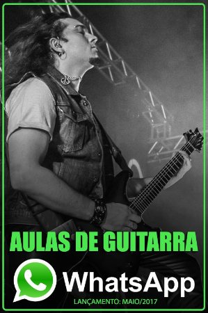 Aulas de Guitarra por WhatsApp - ticket mensal