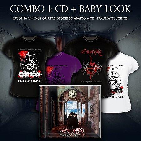 COMBO 1: 1 Baby Look + 1 CD Traumatic Scenes - SupreMa