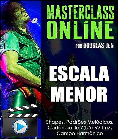 Masterclass online - Escala Menor: Shapes, Padrões, Cadências e Campo Harmônico