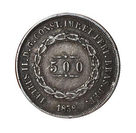 Moeda Antiga do Brasil 500 Réis 1858