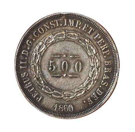 Moeda Antiga do Brasil 500 Réis 1860