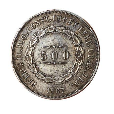 Moeda Antiga do Brasil 500 Réis 1867
