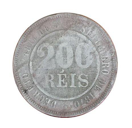 Moeda Antiga do Brasil 200 Réis 1889
