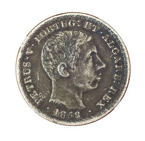 Moeda Antiga de Portugal 500 Réis 1858