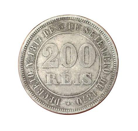 Moeda Antiga do Brasil 200 Réis 1884