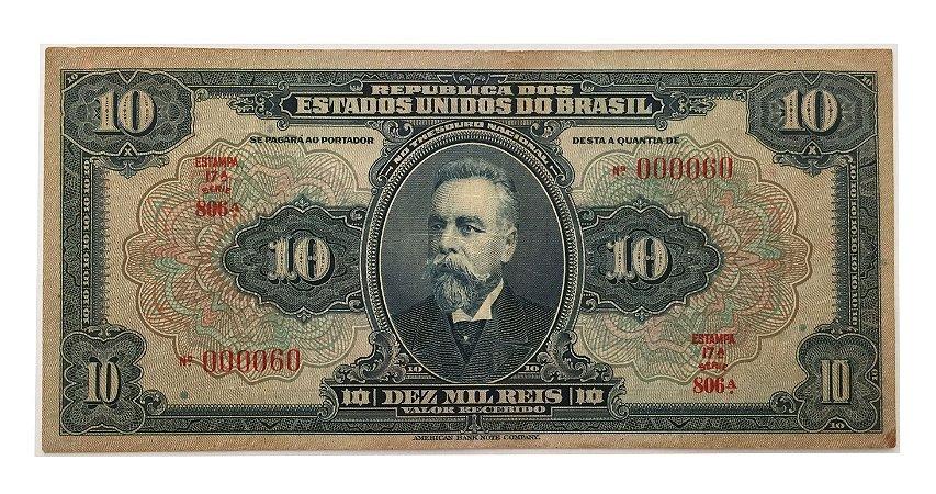 Cédula Antiga do Brasil 10 Mil Réis 1942