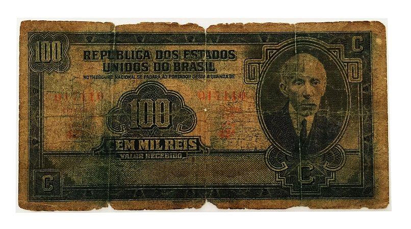 Cédula Antiga do Brasil 100 Mil Réis 1936