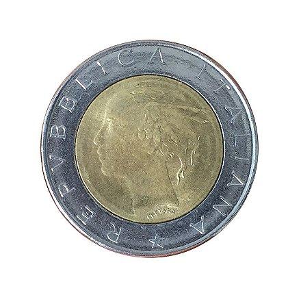Moeda Antiga da Itália 500 Lire 1984