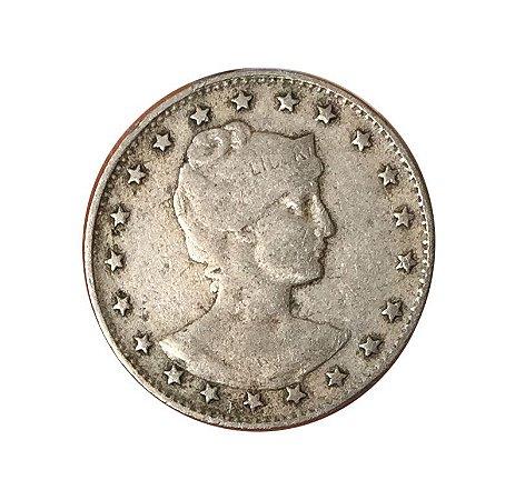 Moeda Antiga do Brasil 100 Réis 1901 - MCMI