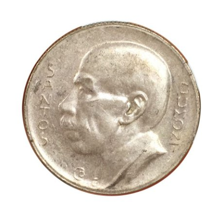 Moeda Antiga do Brasil 5000 Réis 1938 - Santos Dumont