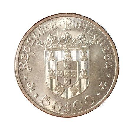 Moeda Antiga de Portugal 50 Escudos 1968 - Pedro Alvares Cabral