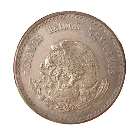 Moeda Antiga do México 5 Pesos 1947