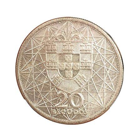 Moeda Antiga de Portugal 20 Escudos 1966 - Ponte Salazar
