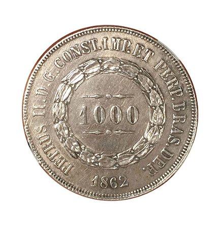 Moeda Antiga do Brasil 1000 Réis 1862