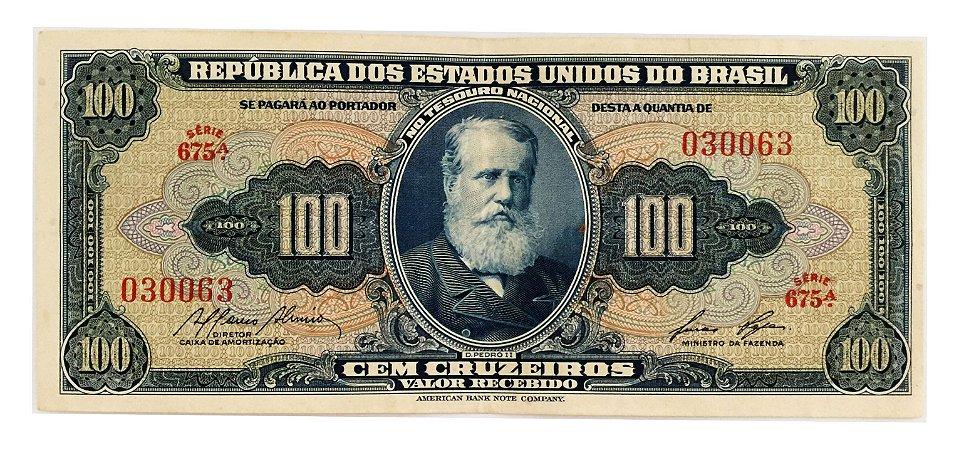 Cédula Antiga do Brasil 100 Cruzeiros 1959
