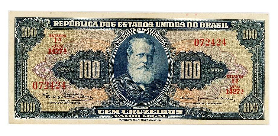 Cédula Antiga do Brasil 100 Cruzeiros 1964