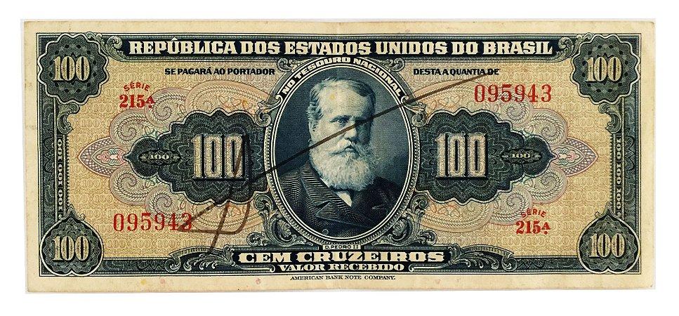 Cédula Antiga do Brasil 100 Cruzeiros 1943 - Autografada