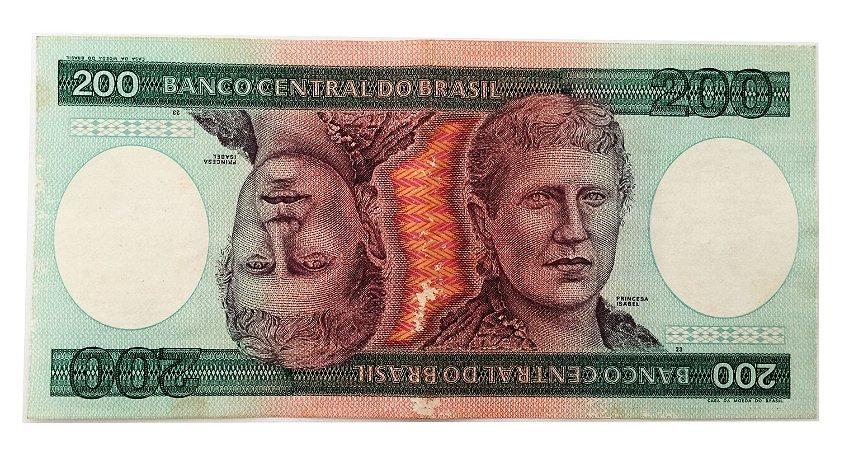 Cédula Antiga do Brasil 200 Cruzeiros 1981
