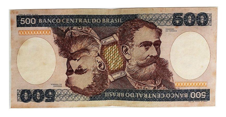 Cédula Antiga do Brasil 500 Cruzeiros 1981