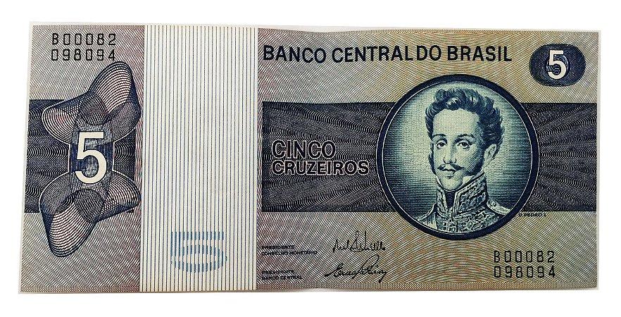 Cédula Antiga do Brasil 5 Cruzeiros 1970